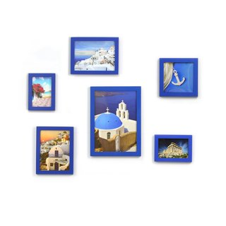 HomePlus Photoframe Blue 6PCS Greece decor
