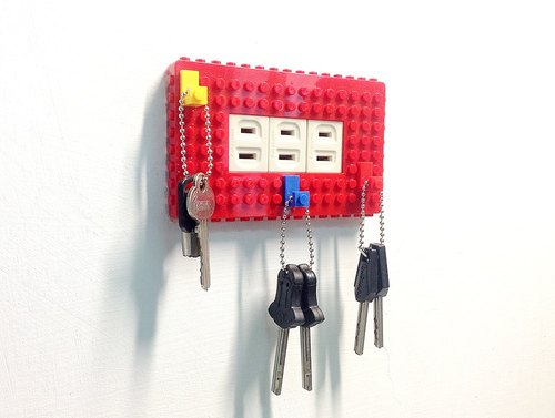 Qubefun building block hook power cover +3 into the building block hook (fashion red) → compatible LEGO, cute gift