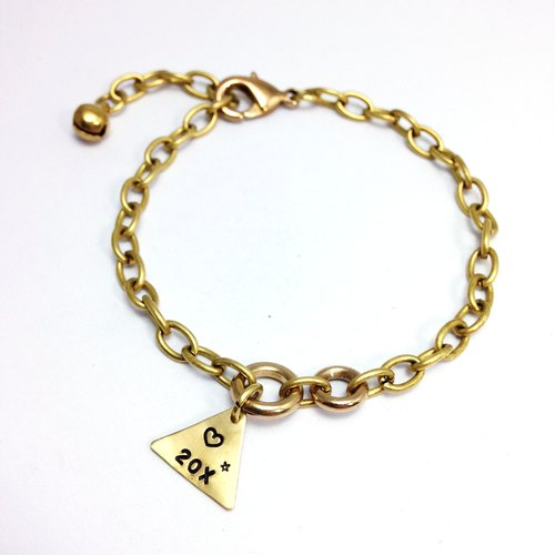 Little punk. Triangle brass bracelet. [Customized] hand typing along brand ◆ Sugar Nok ◆