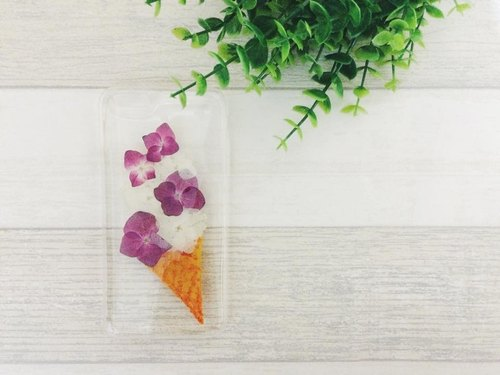 Emmptyforest [soft serve Series - strawberry flavor Flower Cone Collection] phone shell Iphone5 / 5s / 6 / 6plus