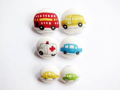 Sewing knitting fabric buckle lovely hand-made materials cars
