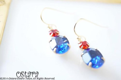 Rock Candy Earrings/Sapphire&Siam