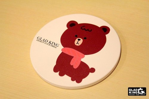 Exclusive design ★ ★ GLAD KING mud horse alpaca bear too - ceramic absorbent coasters