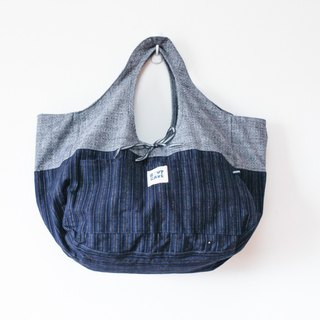 Brut Cake handmade textiles - Kofu big mouth bag (3) - portable, shoulder bag, large capacity, can be double-sided use