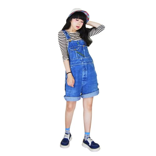 A‧PRANK: DOLLY :: vintage VINTAGE vintage denim shorts and suspenders