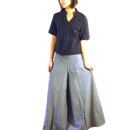 Handmade cotton wide swing skirts - wool