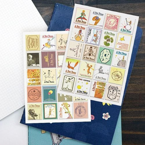 Dessin x 7321 Desgin- Little Prince authorized - Stamp stickers set V4- Little Prince A02,7321-04627
