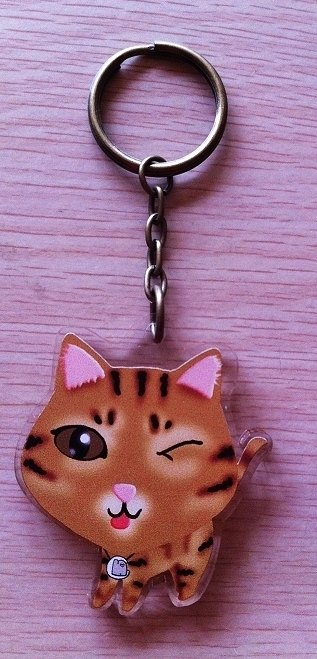 "Super Q! ""NONCOOL‧ Cool farming"" the new * MIX‧ orange cat ‧ shape key ring"
