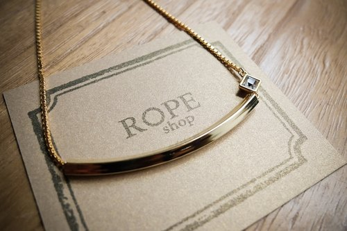 ROPEshop the gentleman [square] necklace.