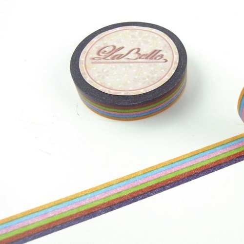 LaBelle series -10mm colorful striped section []