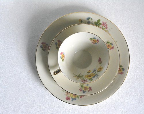 1930s German antique tea cups and saucers Group I