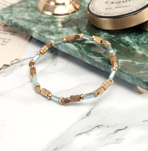 ❈La Don Radon ❈ - Flexible copper bracelet - blue water