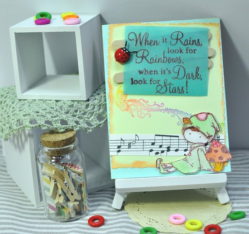 Handmade cards - elf music chapter (universal card / birthday card / greeting card)