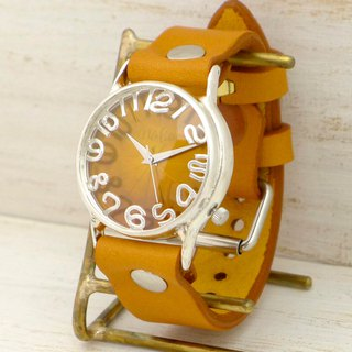 "Handmade watch HandCraftWatch ""JSS3"" yellow dial [JUM130SV]"