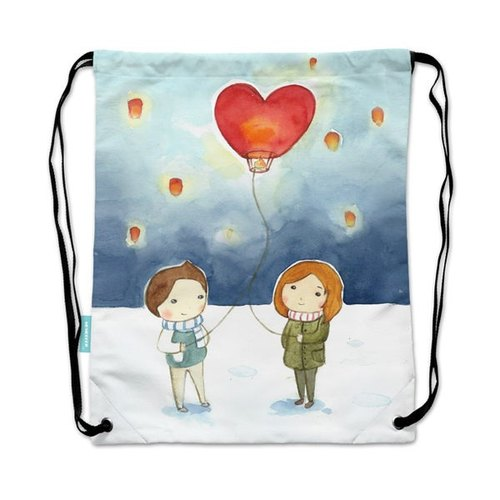 Drawstring backpack glimmer illustration molecule [put day light]