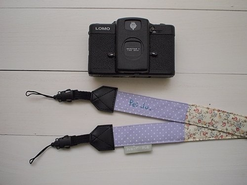 hairmo. Small floral stitching double back strap (double holes) - lilac point +