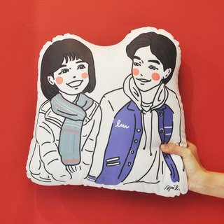 【AP series】 custom illustration: couple pillow 40cm
