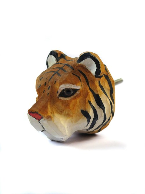 SUSS- wood animal series designer handle _ applicable cabinet / drawer / door handles / handle (Tiger)
