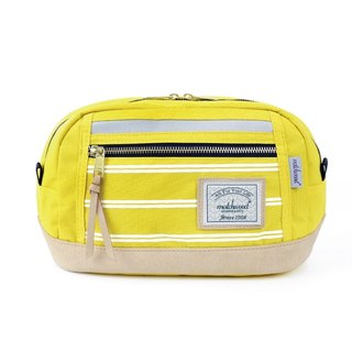 Matchwood Design Matchwood Density Waist Bag Side Bag Crossbody Bag Chest Bag Stripe Yellow Density 3M Waist Bag