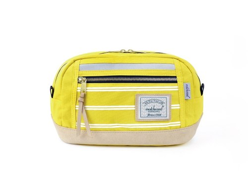 Matches wood design Matchwood Density side pockets backpack chest bag backpack oblique yellow stripes paragraph Density 3M Waist Bag