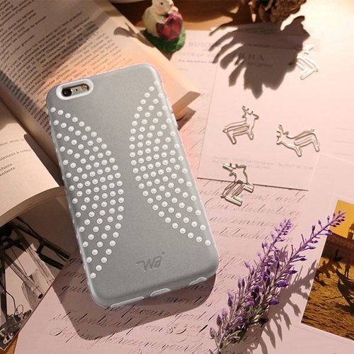 iPhone 6 / 6s Plus Mobile Shell 5.5 inch [Dimples bloom ripples - Grey Christmas ignorant]