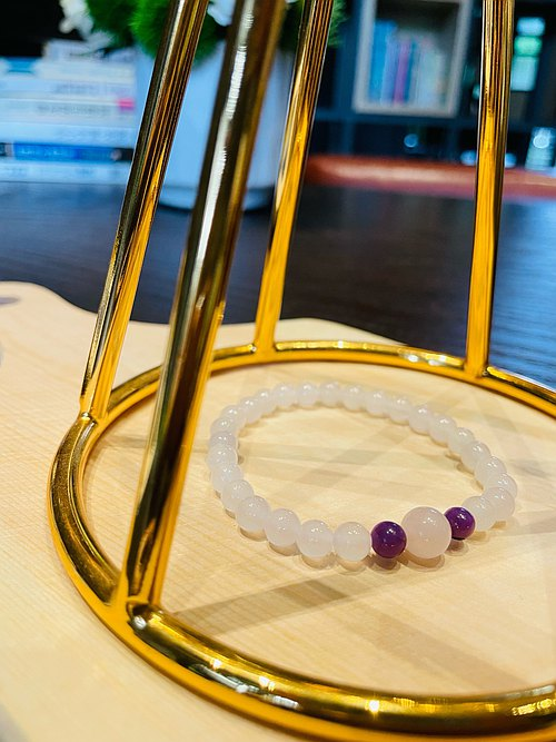 "Suddenly ""bracelet series"" White Agate - popularity"