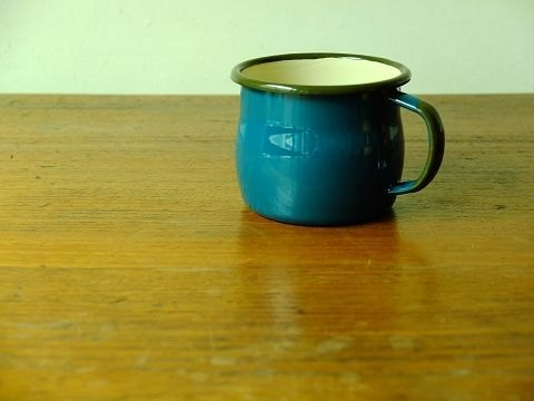 emalia OLKUSZ Poland blue green enamel mug 350ml