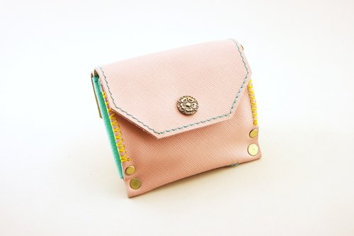 Pink Katie - Small Three Guarantees. Purse / card package / short clip.