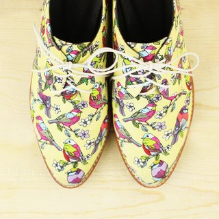 [23.5~25.0 spot] colorful ostrich patch derby shoes / / M2-15362F
