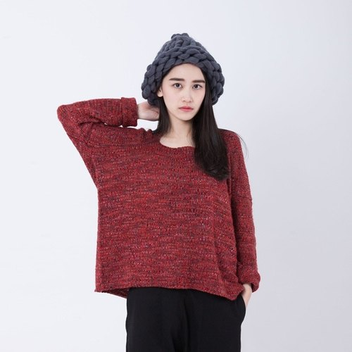 Darling square sweater / red