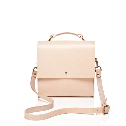 【Grace Gordon】Leather Cross-body with Handle Handmade in UK