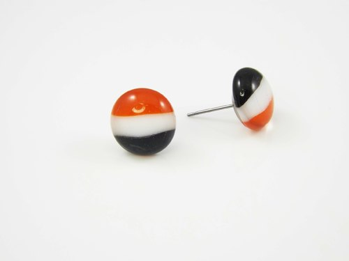 Flag Series glass earrings - Iraq, Syria