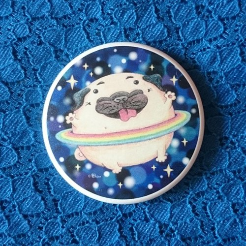 Pocket Mirror ♥ Pug Planet
