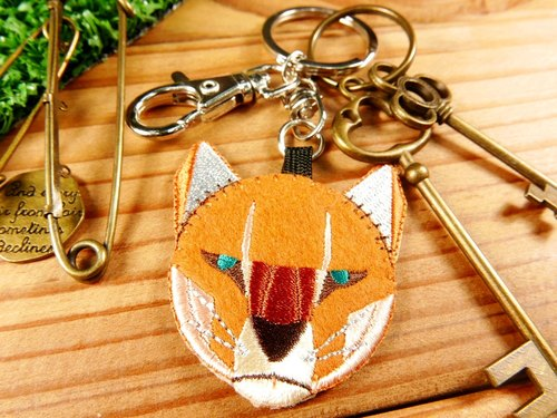 Embroidery key ring - [Geometry Animals - Panther] key ring / Animals / geometry / embroidery - Literary light stick