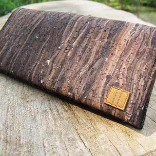 Paralife Custom Handmade Wooden Grain Cork Long Wallet / Clutch / Handbag