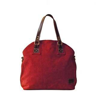 [Happa] Dome canvas shoulder bag - canvas classic stone wash (Wine Wine Red) to exchange gifts Required
