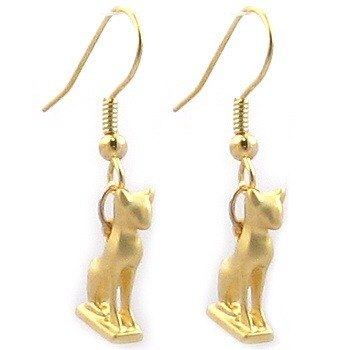 Ancient Egyptian cat earrings Buster