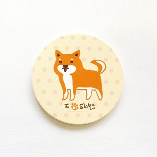 1212 fun design ceramic water coaster - Shiba came