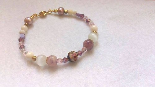 - Dear Sincerity - elegant purple natural stone bracelet
