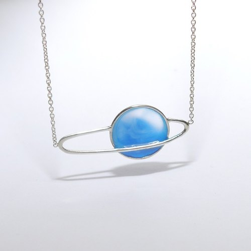 Small universe series asteroid necklace