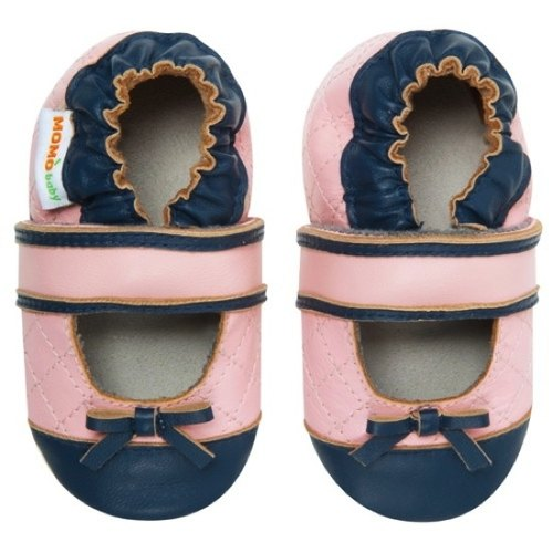 Momo Baby toddler shoes handmade leather lozenge -Quilted Mary-Jane Mary Jane