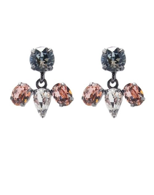 Swarovski crystal earrings swinging