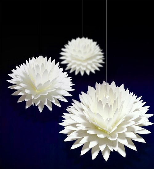 The bloom as opens flower message card <Dahlia> pop up meaage card -dahlia-
