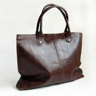 High end large brown leather handbag
