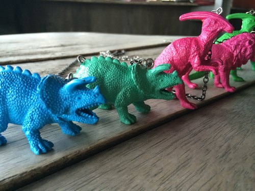 {Dinosaur animal brother sister necklace}