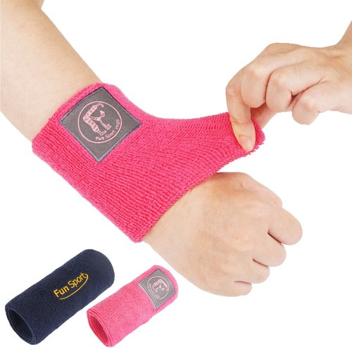 Fun Sport shock sweat wrist movement wrist -2 army into Value Pack (hi peach pink / blue brave)