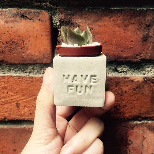 Have Fun ~ !! (happy pleasure) magnet pot
