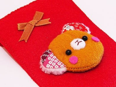 """"" Bear ""Lucky"" lucky red envelope / births Chi hi red envelopes series - light brown orange (free embroidered name) only orders to stop 2/10"