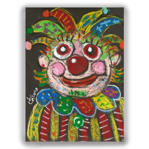 Hand-painted illustrations Multimeter / Postcard / Card / Illustration Card - Clown B