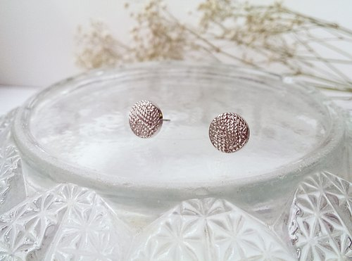 Vintage handmade silver earrings silver thread []